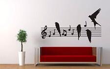 Wall Sticker Decal Vinyl Music Notes Dance  Rock Classics Guitar Violin Birds