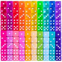Miami Dice - 100 Retro Translucent & Solid Colored Dice for Board Games