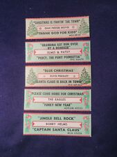 Lot of 5 Jukebox Tags 45 Rpm Title Strips Asst Xmas Elvis The Eagles & More