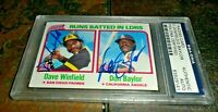 1980 Topps Leaders #203 Don Baylor & Dave Winfield BOLD AUTO DUAL SIGNED PSA/DNA