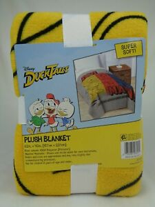 "Disney DuckTales Plush Blanket 62"" x 90"" Aw Man! Adventures Begin! NEW NIP"