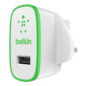 Belkin Universal 2.1Amp USB Wall Charger for iPhone X 8 7 Plus 6 Smartphone iPad