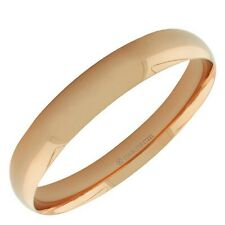 Stainless Steel Rose Gold Tone Womens Classic Bangle Bracelet