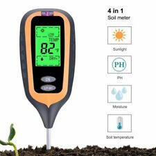 4in1 Plant Earth Soil PH Moisture Light Soil Meter Thermometer Temperature 2020