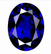 Blue Sapphire 10x12mm 4.92cts Oval Faceted Cut Shape AAAAA VVS Loose Gemstone