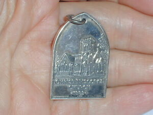 VINTAGE RARE- JAMES AVERY STERLING SILVER CHRIST EPISCOPAL CHURCH PENDANT 1883!