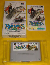 SUPER BLACK BASS 1 Super Nintendo Famicom Snes NTSC Japan Version ○○○○○ COMPLETO