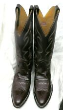 Men's Naguna Size 9 Leather Boots Western Cowboy Rodeo  Nice Condition Usa Made