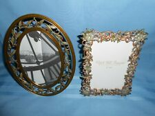 """Vintage Look Decorative Metal Photo Frames For 4"""" X 6"""" Oval & Rectangle Display"""