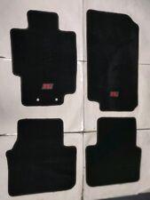 FITS FOR 2004-2008 ACURA TL CARPET FLOOR MATS BLACK W/Emblem 2