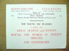 Hippodrome Theatre Prog- KINGS,QUEENS & KNAVES,ROUND THE WORLD IN TWENTY MINUTES