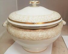 WEDGWOOD CELESTIAL GOLD ZUPPIERA SOUP TUREEN PORCELLANA PORCELAIN PATTERN DECOR