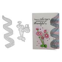 Stanzschablone Blume Karo Welle Weihnachten Geburtstag Hochzeit Karte Album DIY