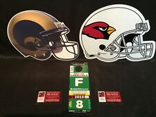 Arizona Cardinals vs Los Angeles Rams 12/1 Green F OVERSIZED RV Lot Parking Pass