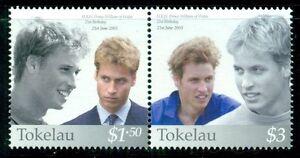 TOKELAU 323 SG351-52 MNH 2003 21st Birthday Prince William pair Cat$7