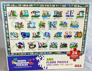 White Mountain Puzzles 2' x 3' ABC Large Floor Puzzle 24 Piece Jigsaw -Free Ship