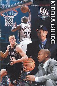 2000-01 New Jersey Nets NBA Basketball Media Guide