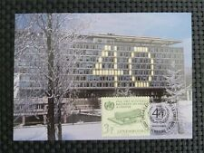 Lussemburgo MK ONU WHO MAXIMUM carta carte MAXIMUM CARD MC cm c1479