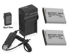 2 Batteries + Charger for Sony MHS-PM5K/W MHS-PM5K/L MHS-PM5K/P MHS-PM5K/V