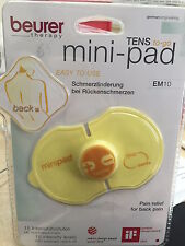 Beurer EM10 TENS Mini Pad Pain Relief On The Go (Back) x2