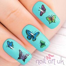 Butterfly Blue Green Purple Nail Stickers Transfers Tattoos Art 01.03.018