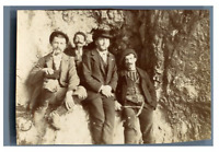 France, Isère, Savoie, Pic de l'Etendard, un abri sous roche  Vintage citra