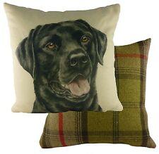 "cushion covers Waggydogz Black Labrador Cushion Cover 17""  24968"