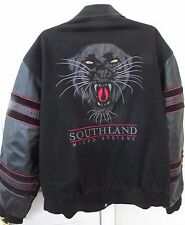 JEFF HAMILTON Southland Micro Systems Leather Jacket Sz Large Great Tiger Design