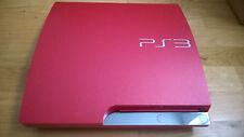 Sony PS3 SLIM 320GB Cech3004B 2A SCARLET rot shiny red Konsole gebraucht Sammler