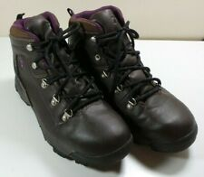 Women's Alpine Design Brown/Purple Waterproof Ankle Hiking Boots Size 9 Work