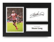 Shane Long Signed A4 Photo Display Southampton Autograph Memorabilia + COA