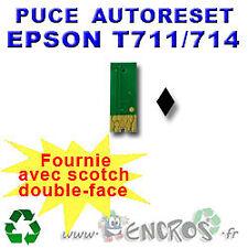 RECHARGEABLE Puce Auto-Reset EPSON T0711 noire
