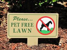 New listing Pet Free Lawn Sign | No Dog Poop Stake | No Poop No Pee Sign | No Dog Poop