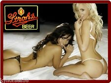 Strohs Beer Sexy Models Refrigerator Toolbox Magnet