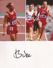 Athletics: Andreas Bube Signed 6x4 Whitecard+2 Unsigned Photos+Coa