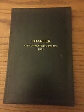 Vintage Watertown NY Advertising Collectible, City Charter 1931, Arsenal Street
