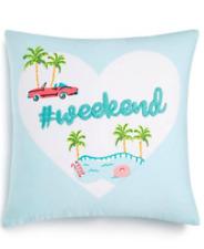 "Whim by Martha Stewart 18"" x 18"" Decorative Pillow - #Weekend - Blue"