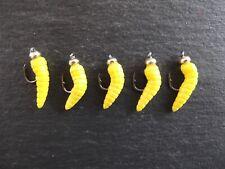 5 new goldhead yellow maggot lures.