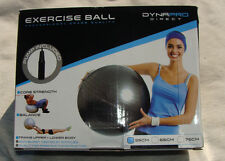DynaPro Direct Exercise Ball with Pump, Professional Grade Quality (Black) NEW