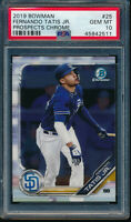 PSA 10 FERNANDO TATIS JR 2019 Bowman Chrome Prospects Padres Rookie RC GEM MINT