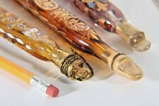 Antique Victorian Cut Glass Gilded Attar Perfume Bottle Lot Made in Germany