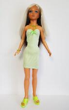 "TIFFANY TAYLOR 19"" DOLL CLOTHES Sexy Lime Dress & Jewelry FASHION NO DOLL d4e"
