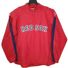 Majestic Authentic Boston Red Sox Dugout Windbreaker Pullover Zip Mens Sz XL