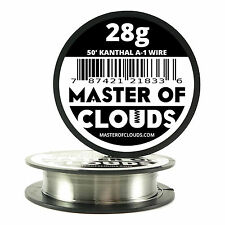 50 ft - 28 Gauge AWG A1 Kanthal Round Wire 0.32mm Resistance A-1 28g GA 50'