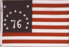 5x8 ft BENNINGTON 76 FLAG Sewn Embroidered Stars Sewn Stripes NYLON Made in USA