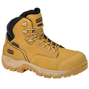 Magnum Men's Precision Max Waterproof Composite Toe Safety Work Boots Wheat