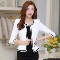 Women's Casual Short OL Blazer Suit Coat Slim Long Sleeve Formal Jacket Outwears