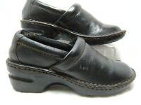 BOC Born Concept Womens Clogs / Shoes Size 6.5 M  Black Leather  #B