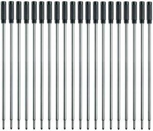 L:4.5 In Ballpoint Pen Refills for Cross Pens,Medium Point,Black Ink,Pack of 20