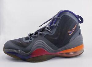 Nike Air Penny 5 V (GS) Grey Purple Black Orange basketball 537640-008 sz 7y